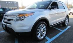 FORD CERTIFIED, ONE OWNER, CLEAN CAR FAX, 2012' Ford Explorer XLT 205A Package, 4D Sport Utility, 3.5L V6 Ti-VCT, 6-Speed Automatic with Select-Shift, 4 Wheel Drive, Ingot Silver Metallic, Charcoal Black w/Leather-Trimmed Heated Bucket Seats,