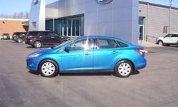 Low Mileage Ford Focus SE Sedan in Blue Candy Metallic with Power Windows and Locks, Cruise and Tilt, CD Player, Bluetooth and More! Our Location is: Shepard Bros Inc - 20 Eastern Blvd, Canandaigua, NY, 14424 Disclaimer: All vehicles subject to prior