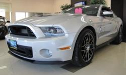 FORD CERTIFIED 2012' FORD Mustang Shelby GT500 820A Package, 2D Coupe, 5.4L V8 32V Supercharged, Tremec 6-Speed Manual, Rear Wheel Drive, Ingot Silver Metallic, Charcoal Black/Black Accents w/Recaro Leather Sport Seats, NAVIGATION System Package (Dual
