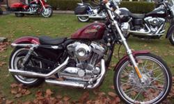 VERY CLEAN, 1200V With a set of SE slip ons and a factory warranty good to 7/21/2014. The 2012 Harley-Davidson® Sportster® Seventy-Two? XL1200V is a bare bones radical custom. From front to rear, the Seventy-Two? sports a bold, vintage look that recalls
