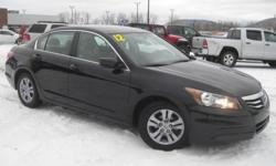 ***CLEAN VEHICLE HISTORY REPORT***, ***ONE OWNER***, and ***PRICE REDUCED***. Accord LX-P 2.4 and Black. Set down the mouse because this 2012 Honda Accord is the car you've been looking to get your hands on. Kelley Blue Book's kbb.com adorns the 2011
