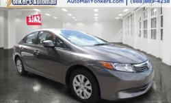 1 owner, clean carfax** 2012 Honda Civic LX in triple mint condition and ready for new ownership. Yonkers Auto Mall is the premier destination for all pre-owned makes and models. With the best prices & service on quality pre-owned cars and over 50 years