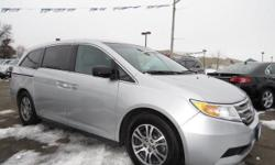 Check out this 2012 Honda Odyssey EX-L. It has an Automatic transmission and a V6 3.5L engine. This Odyssey comes equipped with these options: Heated pwr mirrors, Front/2nd/3rd row side curtain airbags w/rollover sensor, (4) cargo area bag hooks,