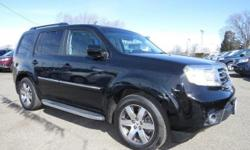 Look at this 2012 Honda Pilot Touring. It has an Automatic transmission and a Gas V6 3.5L/212 engine. This Pilot comes equipped with these options: Instrumentation -inc: corner & backup sensor indicator, digital odometer, (2) digital trip meters, average
