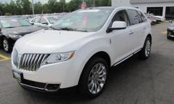 LINCOLN CERTIFIED, ONE OWNER'', LOW MILEAGE,2012' Lincoln MKX All Wheel Drive, 4D Sport Utility, 3.7L V6 Ti-VCT 24V, 6-Speed Automatic with Select-Shift, White Platinum Metallic Tri-Coat, Heated & Cooled Charcoal Black w/Perforated Leather-Trimmed Bucket