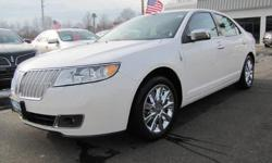 LINCOLN CERTIFIED, ONE OWNER, CLEAN CAR FAX 2012' Lincoln MKZ 4D Sedan, Duratec 3.5L V6 DOHC 24V, 6-Speed Automatic with Select-Shift, All Wheel Drive, White Platinum Metallic Tri-Coat, Dark Charcoal w/Perforated Luxury Heated & Cooled Leather-Trimmed