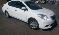2012 Nissan Versa SV, it has 61690 miles,white color,automatic transmission, good tires, black interior,ac,power windows,power mirror, original cd player, great economic car, in very good clean condition.We ask for it $6500.For more info call 3159412289