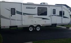 2012 Starcraft Travel Star 299 BHU (NY) - $17,900 Length: 32 ft Color: White w/ gray/blue accents Slideouts: 1 (manual awning) Sleeps: Up to 8 (queen bed, sleeper sofa, twin bunks, dinette/sleeper) Air conditioners: 1 unit Mileage: unknown Like New travel