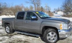 ***CLEAN VEHICLE HISTORY REPORT***, ***ONE OWNER***, ***PRICE REDUCED***, ***NEW TIRES***, and LEATHER, 20 INCH CHROME WHEELS, RUNNING BOARDS. Silverado 1500 LTZ, 4D Crew Cab, Vortec 5.3L V8 SFI VVT Flex Fuel, 6-Speed Automatic Electronic with Overdrive,