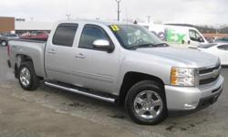 ***CLEAN VEHICLE HISTORY REPORT*** and ***PRICE REDUCED***. Silverado 1500 LTZ, 4D Crew Cab, 6-Speed Automatic Electronic with Overdrive, 4WD, Gray, and Leather. Are you interested in a simply great truck? Then take a look at this hard-working 2013