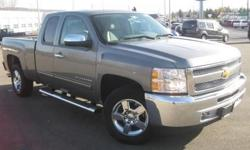 ***CLEAN VEHICLE HISTORY REPORT***, ***ONE OWNER***, ***PRICE REDUCED***, and CHROME 20 INCH WHEELS AND STEP BARS. Silverado 1500 LT, 4D Extended Cab, 4WD, Gray, and Cloth. Are you interested in a simply outstanding truck? Then take a look at this