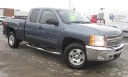 ***CLEAN VEHICLE HISTORY REPORT***, ***ONE OWNER***, and ***PRICE REDUCED***. Silverado 1500 LT, Vortec 5.3L V8 SFI VVT Flex Fuel, 6-Speed Automatic Electronic with Overdrive, 4WD, Blue, and Cloth. Chevrolet has outdone itself with this hard-working 2013