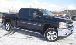 ***CLEAN VEHICLE HISTORY REPORT***, ***ONE OWNER***, and ***PRICE REDUCED***. Silverado 2500HD LTZ, 4D Crew Cab, 8 cyl 6.0L SFI OHV, 6-Speed Automatic HD Electronic with Overdrive, 4WD, Blue, and Leather. Set down the mouse because this beautiful 2013