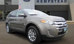 FORD CERTIFIED, 2013' FORD EDGE SEL, 205A Package 4D Sport Utility, 3.5L V6 Ti-VCT, 6-Speed Automatic with Select-Shift, All Wheel Drive, Mineral Gray Metallic, Medium Light Stone w/Leather-Trimmed Heated Bucket Seats, 18 Chrome Clad Wheels, Leather