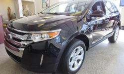 Be smooth and stealth! This 2013 Ford Edge will give you an edge on the open road! It has many features including a back up camera is spacious and has low miles. Comes in Tuxedo Black with sleek black leather seating. Price(s) include(s) all costs to be