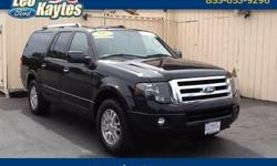 To learn more about the vehicle, please follow this link: http://used-auto-4-sale.com/108336042.html Ford Certified! 2013 Ford Expedition EL Limited in Tuxedo Black Metallic, Bluetooth for Phone and Audio Streaming, Rearview Camera, Navigation, Power