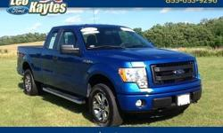To learn more about the vehicle, please follow this link: http://used-auto-4-sale.com/108401726.html Ford Certified! A One Owner 2013 Ford F-150 STX 4 Wheel Drive Supercab in Blue Flame Metallic. Bluetooth for Phone and Audio Streaming, Trailer Towing