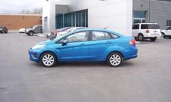 Very Clean Ford Fiesta SE Sedan with Power Windows and Locks, SYNC, Alloy Rims, Cruise and Tilt, Auto and More! Blue Candy Metallic Paint is an upcharge when brand new. Get up to 38 MPG! Our Location is: Shepard Bros Inc - 20 Eastern Blvd, Canandaigua,