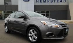 FORD CERTIFIED, ONE OWNER, 2013' FORD FOCUS SE, 4D Sedan, 2.0L I4 DGI Ti-VCT PZEV, 6-Speed Automatic with Powershift, Front Wheel Drive, Sterling Gray Metallic, Charcoal Black w/Warm Steel Surround w/Cloth Front Bucket Seats, ABS brakes, Brake assist,