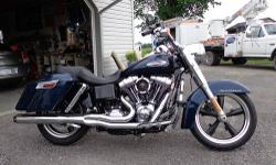 2013 Harley Davidson FLD Switchback. Big Blue Pearl. 606 miles. Purchased new in December 2012 but I didn't take delivery and 2 year warranty did not start until April 2013. Balance of warranty goes with bike. Detachable factory hard bags & windshield.