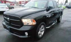 ***CLEAN VEHICLE HISTORY REPORT***, ***ONE OWNER***, ***PRICE REDUCED***, and EXPRESS. 4D Quad Cab, HEMI 5.7L V8 Multi Displacement VVT, 4WD, Black, ABS brakes, Electronic Stability Control, Heated door mirrors, Low tire pressure warning, and Traction