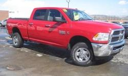 ***CLEAN VEHICLE HISTORY REPORT***, ***ONE OWNER***, and ***PRICE REDUCED***. Ram 2500 SLT, 4D Crew Cab, Cummins 6.7L I6 Turbodiesel, 4WD, and Red. Just think of all the work you can get done once you are driving off in this hard-working 2013 Dodge Ram