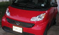 2013 smart fortwo passion coupe. Red and black with black interior. 23K miles. Automatic in like new condition. 41 MPG and runs great. All scheduled maintenance, including regular oil changes. Ice cold A/C. Non-smoker. Interior in excellent shape. $11,750