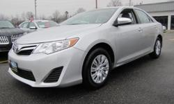 ONE OWNER, LOW MILEAGE, CLEAN CAR FAX, 2013' Toyota Camry LE, 4D Sedan, 2.5L I4 SMPI DOHC, 6-Speed Automatic, FWD, Classic Silver Metallic, Light Gray w/Fabric Seat Trim, 6.5J x 16 Steel Wheels w/Covers, ABS brakes, Brake assist, Electronic Stability