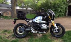 2014 RnineT, excellent condition, 4300 miles. Bike includes many extra: seat cowling and pad, cylinder covers, tank and tail bags (all BMW), Wunderlich Daytona fairing and sport screen (removable), BMW Atlantis gore tex riding gloves (size (9/9.5), BMW