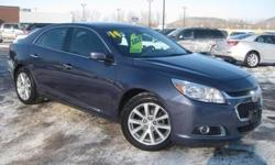 Stability and traction control put you in control. Vehicle stability control stands on solid ground. Be the talk of the town when you and your loved ones roll down the street in this terrific 2014 Chevrolet Malibu. This fantastic Malibu is the car with