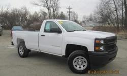 ***CLEAN VEHICLE HISTORY REPORT***, ***ONE OWNER***, and ***PRICE REDUCED***. Silverado 1500 Work Truck, 2D Standard Cab, V6, 6-Speed Automatic Electronic with Overdrive, 4WD, White, and Black. Don't pay too much for the truck you want...Come on down and