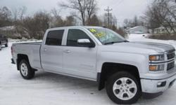 ***CLEAN VEHICLE HISTORY REPORT***, ***ONE OWNER***, ***PRICE REDUCED***, and HEATED SEATS, BACK UP CAMERA, TOW PACKAGE AND Z71,. Silverado 1500 2LZ, 4D Crew Cab, EcoTec3 5.3L V8 Flex Fuel, 6-Speed Automatic Electronic with Overdrive, 4WD, and Silver. Set