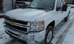 ***CLEAN VEHICLE HISTORY REPORT***, ***ONE OWNER***, ***PRICE REDUCED***, and ALLOY WHEELS. Silverado 3500HD LT, 4D Crew Cab, 6-Speed Automatic with Overdrive, 4WD, White, and Cloth. Just think of all the work you can get done once you are riding off in