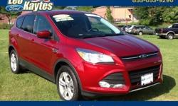To learn more about the vehicle, please follow this link: http://used-auto-4-sale.com/108681868.html 2014 Ford Escape SE in Ruby Red, Bluetooth for Phone and Audio Streaming, and 4 Wheel Drive. AM/FM CD/MP3 Player with Satellite Radio. 4-Wheel Disc