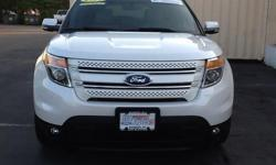 To learn more about the vehicle, please follow this link: http://used-auto-4-sale.com/108452108.html Ford Certified! 2014 Ford Explorer Limited in White Platinum Metallic Tri-Coat, Bluetooth for Phone and Audio Streaming, Navigation, Dual Panel Moonroof,