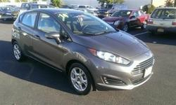 Look at this 2014 Ford Fiesta SE. This Fiesta features the following options: Premium Cloth Bucket Front Seats w/Cloth Back Material, Transmission: 5-Speed Manual, 4-Way Passenger Seat -inc: Manual Recline and Fore/Aft Movement, 5 Person Seating Capacity,