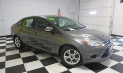 To learn more about the vehicle, please follow this link: http://used-auto-4-sale.com/108426904.html New Arrival! CarFax One Owner! Low miles for a 2014! Bluetooth, Steering Wheel Controls, Aux Audio Input, Automatic Headlights This Ford Focus gets great