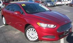 ***CLEAN VEHICLE HISTORY REPORT***, ***ONE OWNER***, ***PRICE REDUCED***, and NAVIGATION AND SUNROOF. Fusion Hybrid SE, 2.0L I4 Atkinson-Cycle Hybrid, and Red. This charming-looking 2014 Ford Fusion Hybrid is a great little car! It gives you plenty of GO