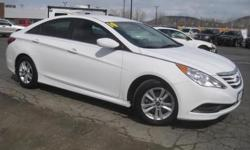 ***CLEAN VEHICLE HISTORY REPORT***, ***ONE OWNER***, and ***PRICE REDUCED***. Sonata GLS, 4-Cylinder, 6-Speed Automatic with Shiftronic, and White. Are you still driving around that old thing? Come on down today and get into this beautiful-looking 2014