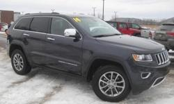 ***CLEAN VEHICLE HISTORY REPORT***, ***ONE OWNER***, and ***PRICE REDUCED***. Grand Cherokee Limited, 3.6L V6 Flex Fuel 24V VVT, 4WD, and Blue. This 2014 Grand Cherokee is for Jeep fans looking everywhere for that perfect SUV. Don't get stuck in the