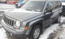 ***CLEAN VEHICLE HISTORY REPORT***, ***ONE OWNER***, and ***PRICE REDUCED***. Patriot Sport, 4WD, Gray, and Cloth. Don't wait another minute! There is no better time than now to buy this attractive 2014 Jeep Patriot. This Jeep Patriot has a great cockpit