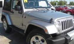 ***CLEAN VEHICLE HISTORY REPORT***, ***ONE OWNER***, ***PRICE REDUCED***, and NAVIGATION, HEATED SEATS, SOFT TOP. Wrangler Sahara, 4WD, and Gray. This 2014 Wrangler is for Jeep enthusiasts looking everywhere for just the right good-time SUV. Don't get