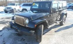 ***CLEAN VEHICLE HISTORY REPORT***, ***ONE OWNER***, and ***PRICE REDUCED***. Wrangler Unlimited Sahara Dragon Edition, 6-Speed Manual, 4WD, Black, and GPS Navigation. This 2014 Wrangler is for Jeep lovers looking everywhere for that perfect SUV. It is