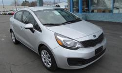 The 2014 Kia Rio has a stylish and inviting cabin and strong engine performance. * Engine: 1.6 L Inline 4-cylinder - Drivetrain: Front Wheel Drive - Transmission: 6-speed Automatic - Horse Power: 138 hp @ 6300 rpm - Fuel Economy: 27/37 mpg * Billy