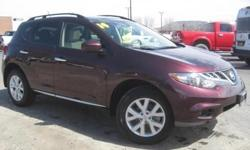 ***CLEAN VEHICLE HISTORY REPORT***, ***ONE OWNER***, and SUNROOF. Murano SL, 3.5L V6 DOHC, CVT with Xtronic, AWD, Maroon, and Leather. This 2014 Murano is for Nissan fans looking everywhere for that perfect SUV. It's the combination of advanced design and
