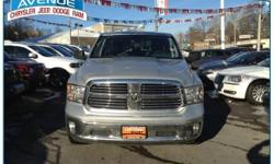 RAM CERTIFICATION INCLUDED!! NO HIDDEN FEES!! CLEAN CARFAX!! ONE OWNER!! LOW MILEAGE!! FACTORY WARRANTY!! Central Avenue Chrysler has a wide selection of exceptional pre-owned vehicles to choose from, including this 2014 Ram 1500. With the CARFAX Buyback