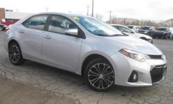 ***CLEAN VEHICLE HISTORY REPORT***, ***ONE OWNER***, and ***PRICE REDUCED***. Corolla S, 1.8L I4 DOHC, CVT, and Gray. When was the last time you smiled as you turned the ignition key? Feel it again with this beautiful 2014 Toyota Corolla. Cute Vehicle
