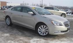 ***CLEAN VEHICLE HISTORY REPORT***, ***ONE OWNER***, ***PRICE REDUCED***, and CHROME WHEELS. LaCrosse Leather Group, Tan, and Leather. Creampuff! This beautiful 2015 Buick LaCrosse is not going to disappoint. There you have it, short and sweet! Add up all