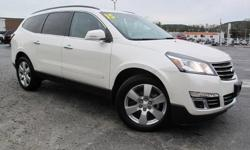 To learn more about the vehicle, please follow this link: http://used-auto-4-sale.com/108762328.html ***CLEAN VEHICLE HISTORY REPORT***, ***ONE OWNER***, and ***PRICE REDUCED***. Traverse LTZ, 3.6L V6 SIDI, 6-Speed Automatic, AWD, White, and Gray Leather.