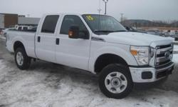 ***CLEAN VEHICLE HISTORY REPORT***, ***ONE OWNER***, and ***PRICE REDUCED***. F-250 SuperDuty XL, 4D Crew Cab, 6.2L V8 EFI SOHC 16V Flex Fuel, TorqShift 6-Speed Automatic, 4WD, and White. This 2015 F-250SD is for Ford nuts looking the world over for that